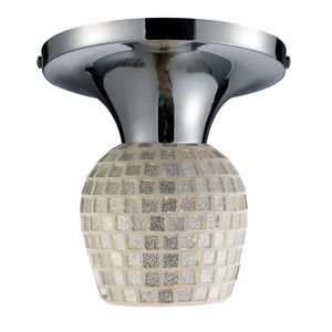 Celina 1-Light Semi-Flush In Polished Chrome And Silver by Elk Lighting