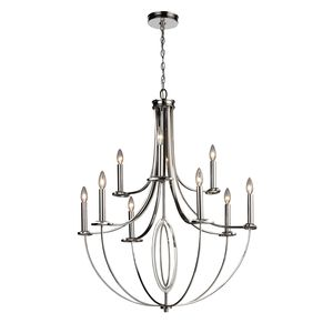 Dione 6+3-Light Chandelier In Polished Nickel by Elk Lighting