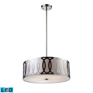 Anastasia 5-Light Pendant In Polished Nickel by Elk Lighting