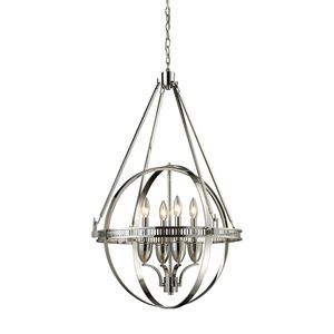 Hemispheres 4-Light Chandelier In Polished Nickel by Elk Lighting