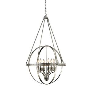 Hemispheres 6-Light Chandelier In Polished Nickel by Elk Lighting