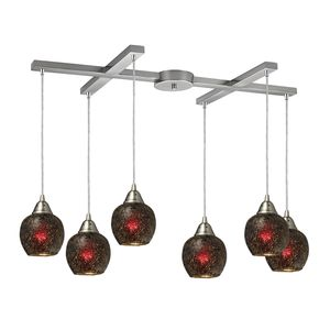 Fission 6-Light Wine Pendant In Satin Nickel by Elk Lighting