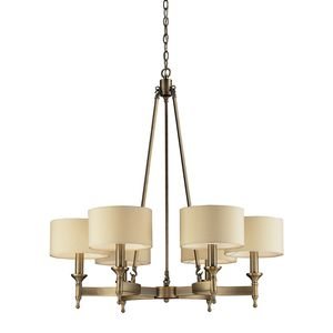 6- Light Chandelier In Antique Brass by Elk Lighting