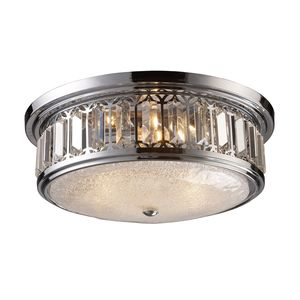 Flush Mount 3-Light In Polished Chrome by Elk Lighting