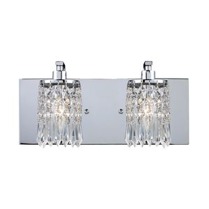 Optix 2-Light Vanity In Polished Chrome by Elk Lighting