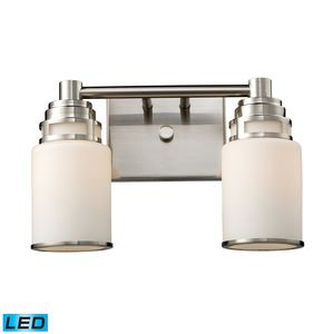 Bryant 2-Light Vanity In Satin Nickel by Elk Lighting