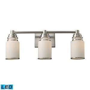 Bryant 3-Light Vanity In Satin Nickel by Elk Lighting