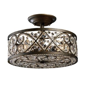 Amherst 4-Light Semi-Flush In Antique Bronze by Elk Lighting