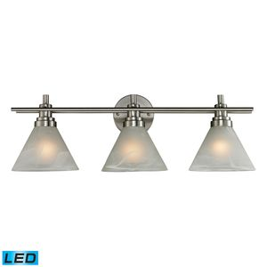 Pemberton 3 Light Bath In Brushed Nickel by Elk Lighting