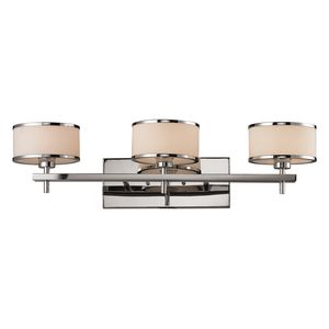 Utica 3 Light Bath In Polished Chrome by Elk Lighting