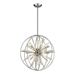Twilight Collection 10 Light Pendant In Polished Chrome by Elk Lighting