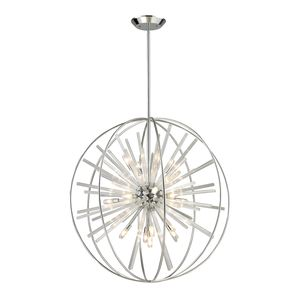 Twilight Collection 15 Light Pendant In Polished Chrome by Elk Lighting