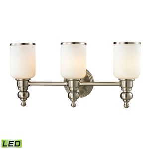 Bristol Collection 3 Light Bath In Brushed Nickel by Elk Lighting