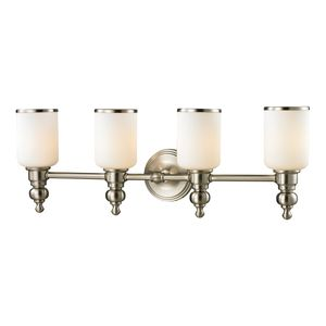 Bristol Collection 4 Light Bath In Brushed Nickel by Elk Lighting