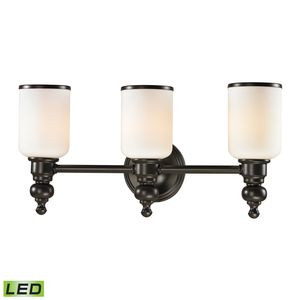 Bristol Collection 3 Light Bath In Oil Rubbed Bronze by Elk Lighting