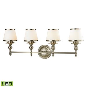 Smithfield Collection 4 Light Bath In Brushed Nickel by Elk Lighting