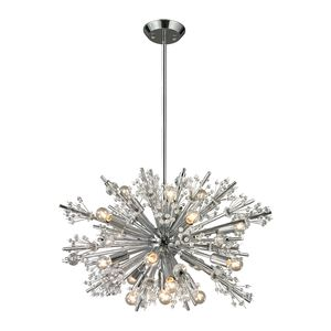 Starburst Collection 19 Light Chandelier In Polished Chrome by Elk Lighting