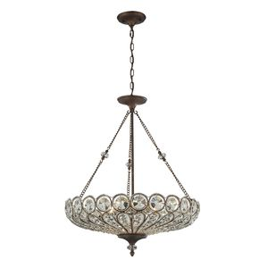 Christina 6 Light Pendant In Mocha by Elk Lighting