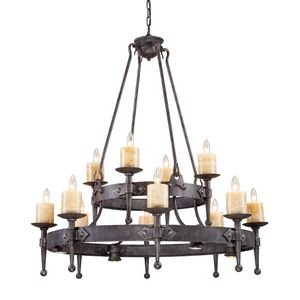 Cambridge 8+4+4-Light Chandelier In Moonlit Rust by Elk Lighting