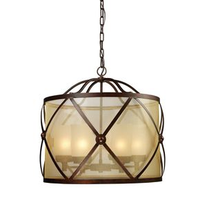 Cumberland 6-Light Chandelier In Classic Bronze by Elk Lighting