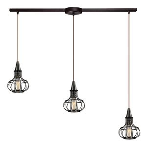 Yardley Collection 3 Light Chandelier In Oil Rubbed Bronze by Elk Lighting