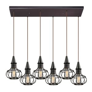 Yardley Collection 6 Light Chandelier In Oil Rubbed Bronze by Elk Lighting