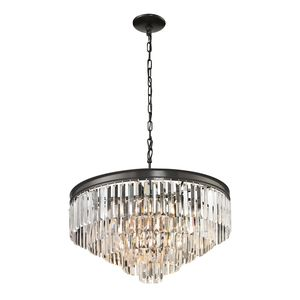 Palacial Collection 5+1 Light Pendant In Oil Rubbed Bronze by Elk Lighting