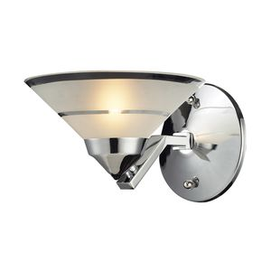 1 Light Sconce In Polished Chrome And Etched Clear Glass by Elk Lighting