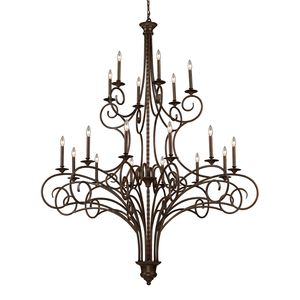 Gloucester 12+6 Light Chandelier In Antique Bronze by Elk Lighting