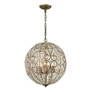 Elizabethan (Existing) Collection 8 Light Pendant In Dark Bronze by Elk Lighting