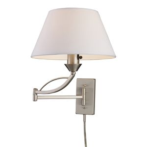 Elysburg 1-Light Swingarm Sconce In Satin Nickel by Elk Lighting