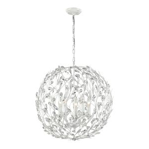 Circeo Collection 5 Light Pendant In Antique White by Elk Lighting