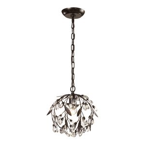 Circeo Collection 1 Light Mini Pendant In Deep Rust by Elk Lighting