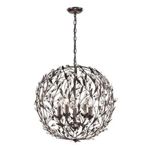 Circeo Collection 5 Light Pendant In Deep Rust by Elk Lighting