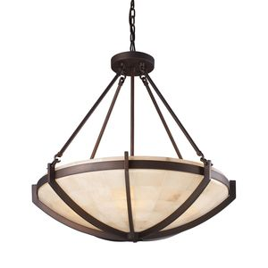 Spanish Mosaic 6-Light Pendant In Aged Bronze by Elk Lighting