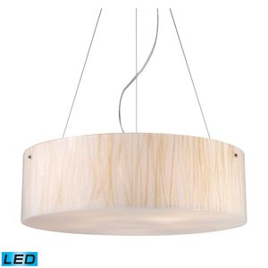 Modern Organics-5-Light Pendant In White Sawgrass Material In Polished Chrome by Elk Lighting