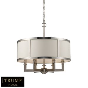 Seven Springs 6-Light Chandelier In Satin Nickel by Elk Lighting