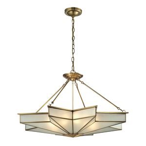 Decostar Collection 8 Light Pendant In Brushed Brass by Elk Lighting