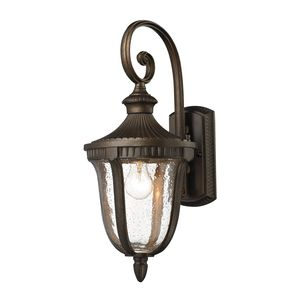 1- Light Outdoor Sconce In  Weathered Rust  by Elk Lighting