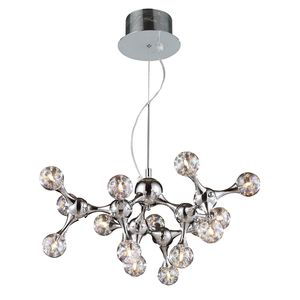 Molecular Collection 15-Light Chandelier In Chrome With Rainbow Glass by Elk Lighting