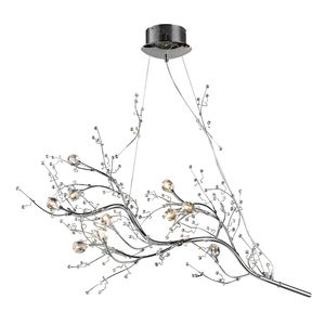 Viviana Collection 10-Light Chandelier In Chrome by Elk Lighting