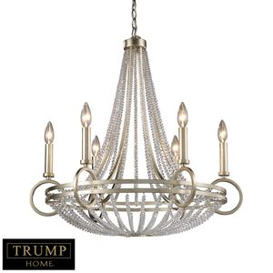 New York 6-Light Chandelier In Renaissance Silver by Elk Lighting