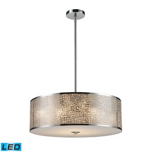 Medina 5-Light Pendant In Polished Stainless Steel by Elk Lighting