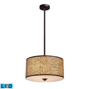 Medina 3-Light Pendant In Aged Bronze by Elk Lighting