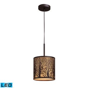 Woodland Sunrise 1-Light Pendant In Aged Bronze by Elk Lighting