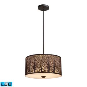 Woodland Sunrise 3-Light Pendant In Aged Bronze by Elk Lighting
