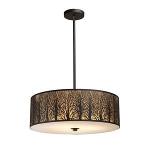 Woodland Sunrise 5-Light Pendant In Aged Bronze by Elk Lighting