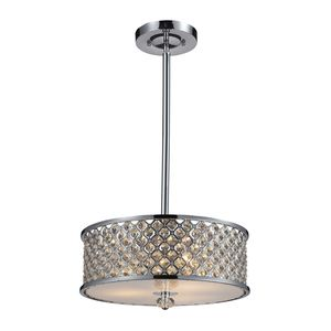 3- Light Semi-Flush In Polished Chrome by Elk Lighting