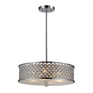 4- Light Pendant In Polished Chrome by Elk Lighting