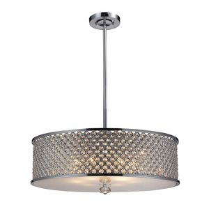 6- Light Pendant In Polished Chrome by Elk Lighting